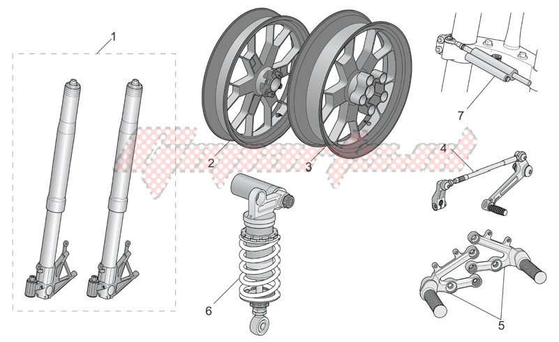 Accessories-Acc. - cyclistic components