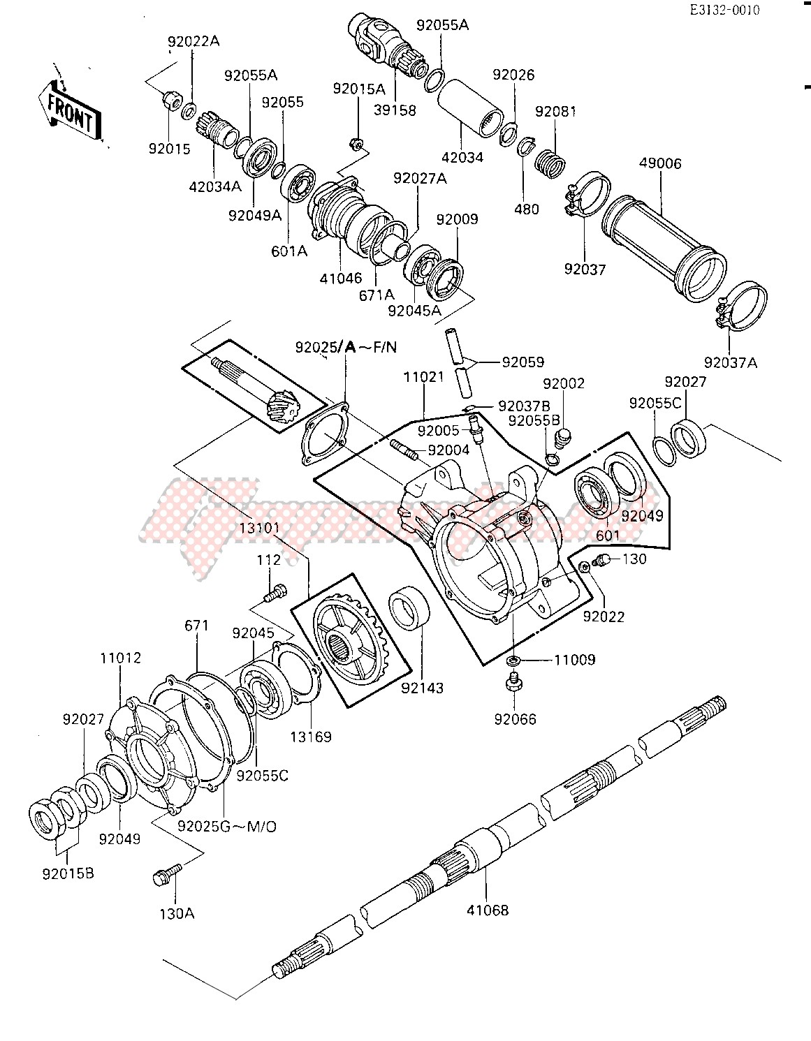DRIVE SHAFT_FINAL GEARS_REAR AXLE -- -E_NO. 015127- - image