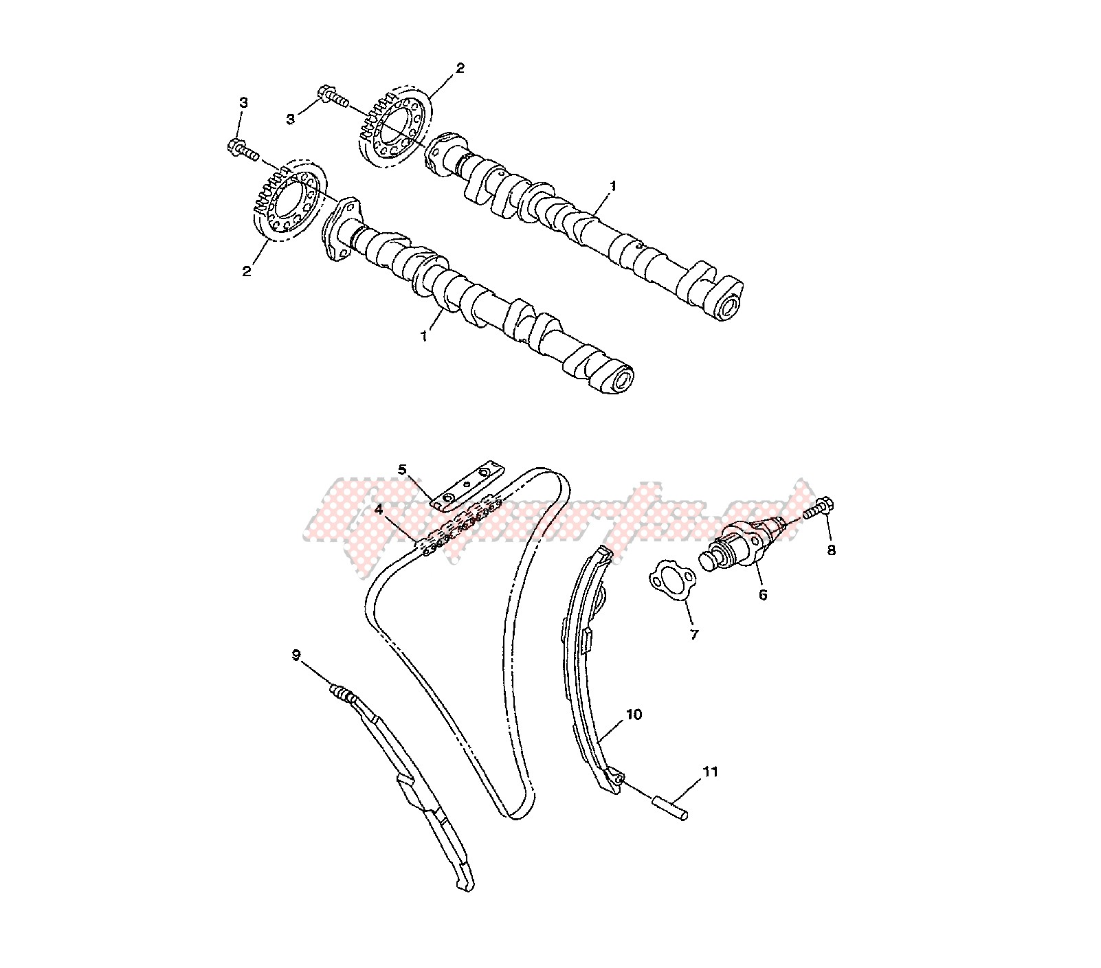 CAMSHAFT AND TIMING CHAIN blueprint