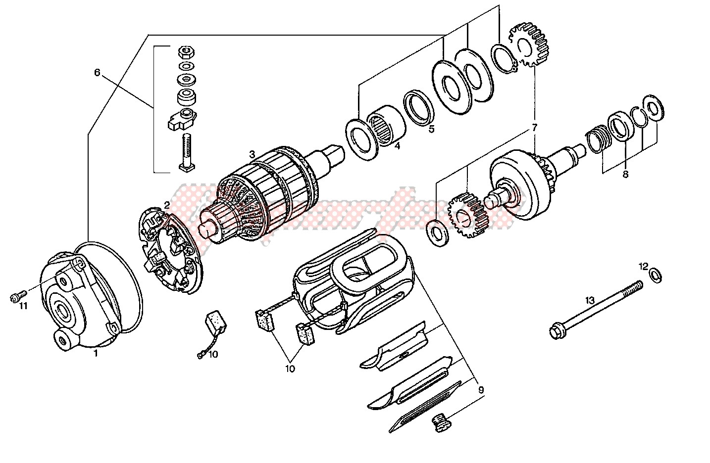 Engine-Starting motor