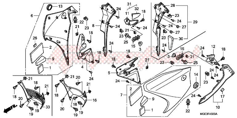 MIDDLE COWL blueprint