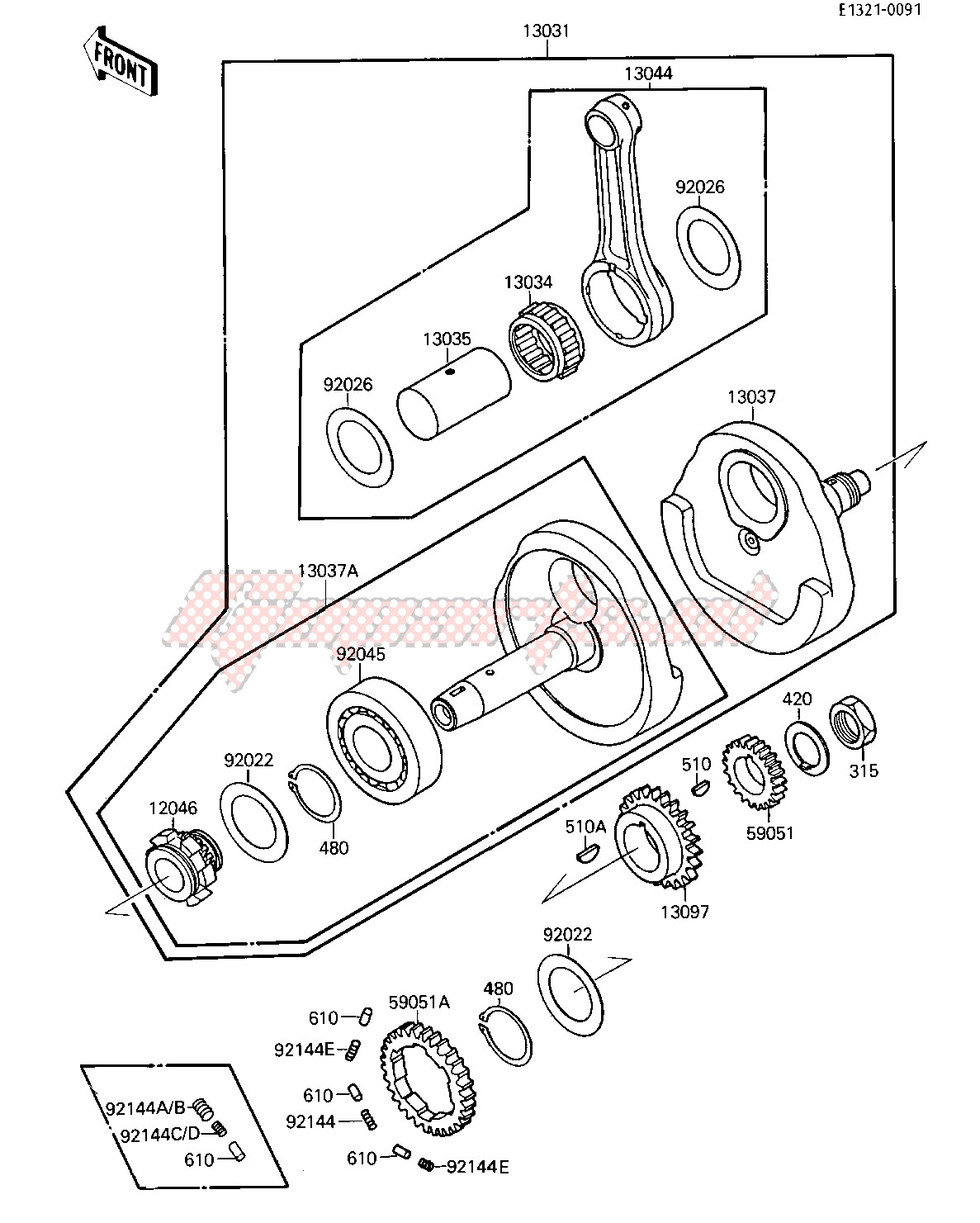 Engine-CRANKSHAFT -- 010527- -