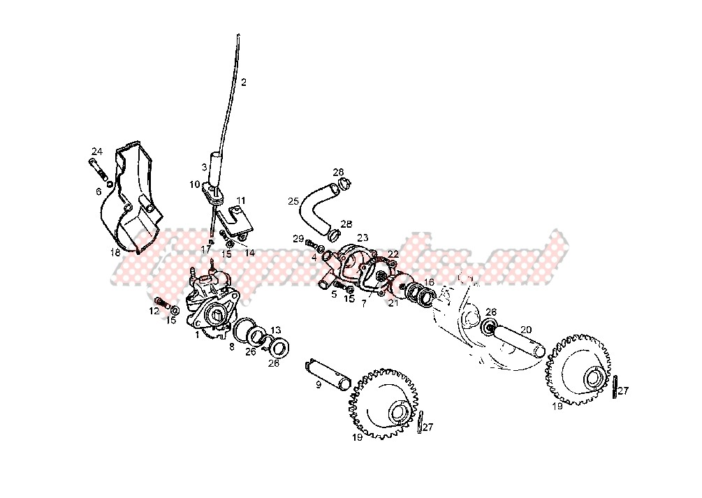 OIL AND WATER PUMP image