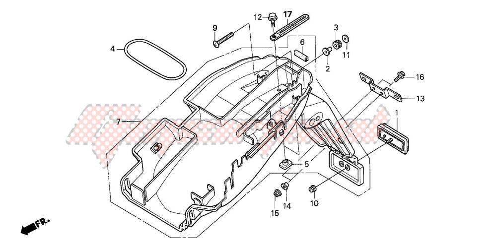 REAR FENDER (CB600F3/4/5/ 6) blueprint