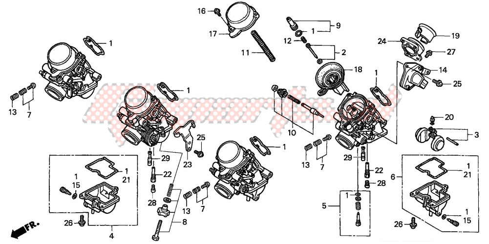 CARBURETOR (COMPONENT PARTS) (2) blueprint