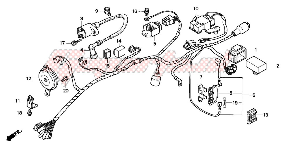 OEM WIRE HARNESS - (Honda [Motorcycle] CG125 / 2000) | GopartsGoparts
