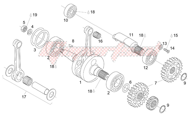 Engine-Crankshaft - Balance shaft