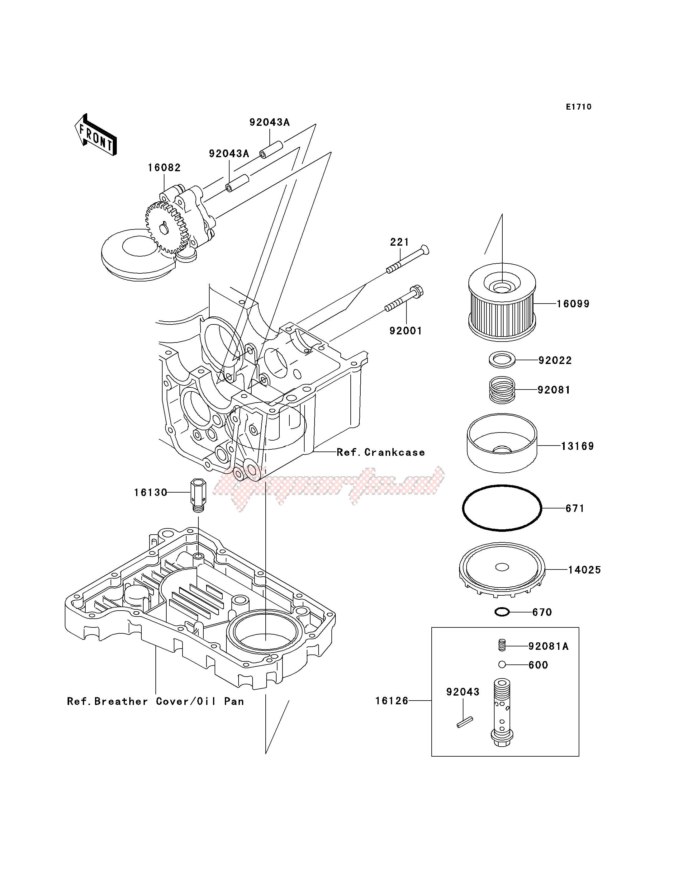 H 2001-2003 /Ölfilter Hiflo passend f/ür Kawasaki ZR-7S ZR750F