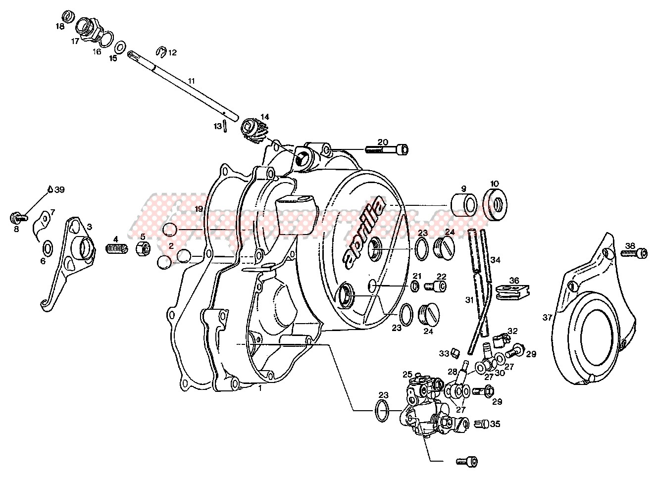 Engine-Clutch cover - Oil pump