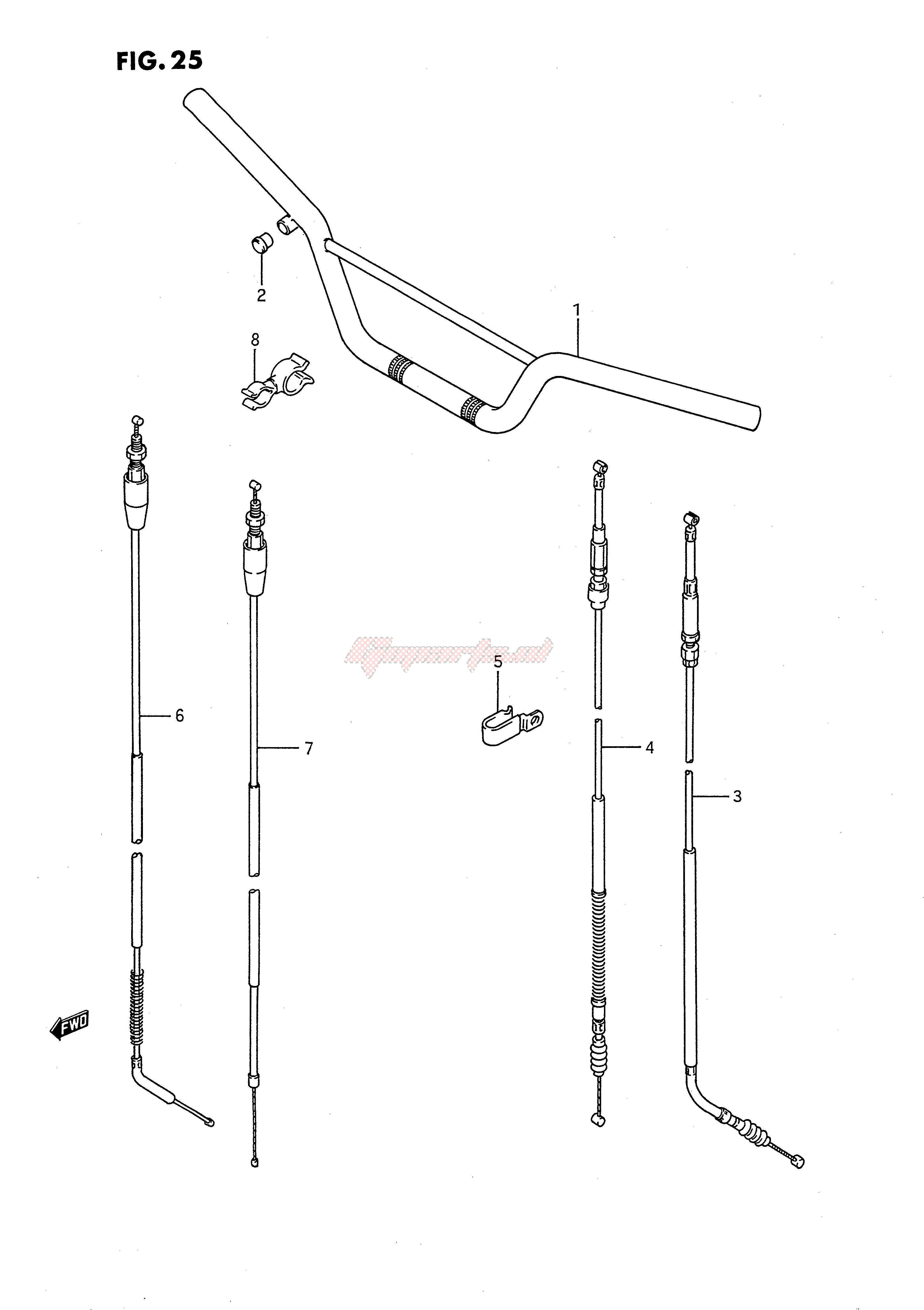 Suzuki Cable Clutch 58200-02B13 New Oem Automotive Parts pubfactor.ma