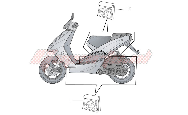 Central and rear body decal image