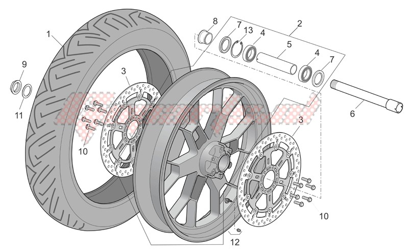 Suspensions - Wheels-Front wheel factory