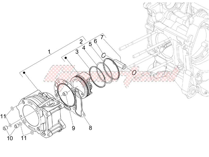 Cylinder-piston-wrist pin unit image
