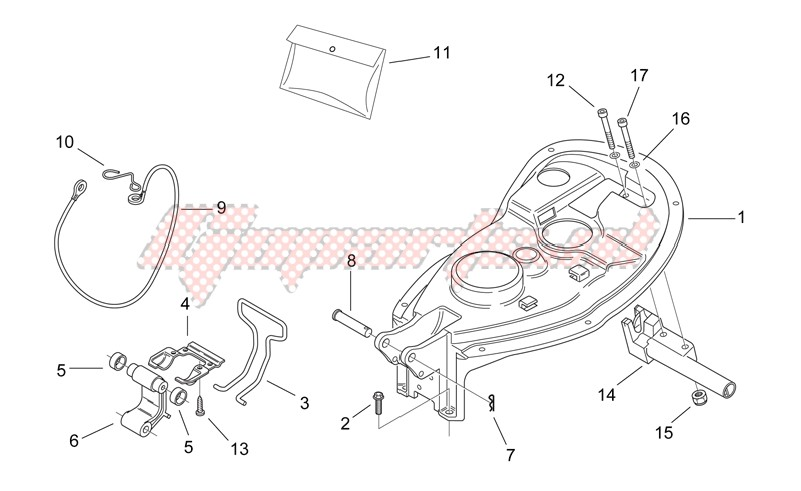Frame-Rear body II - Seat components