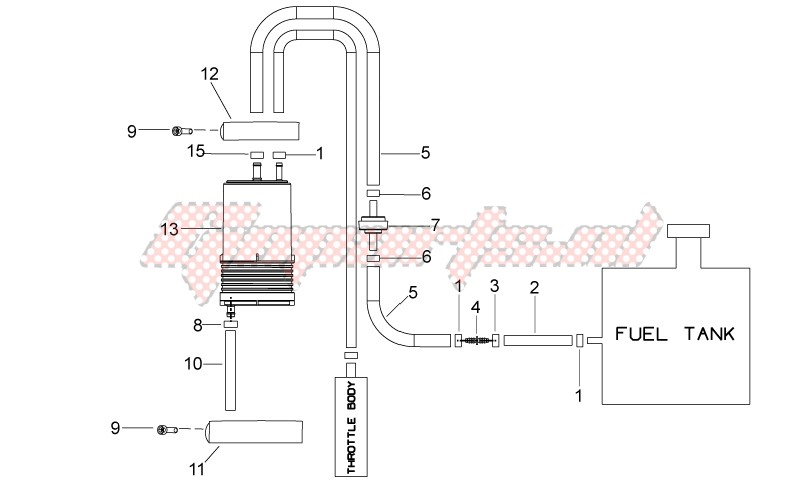 Frame-Fuel vapour recover system