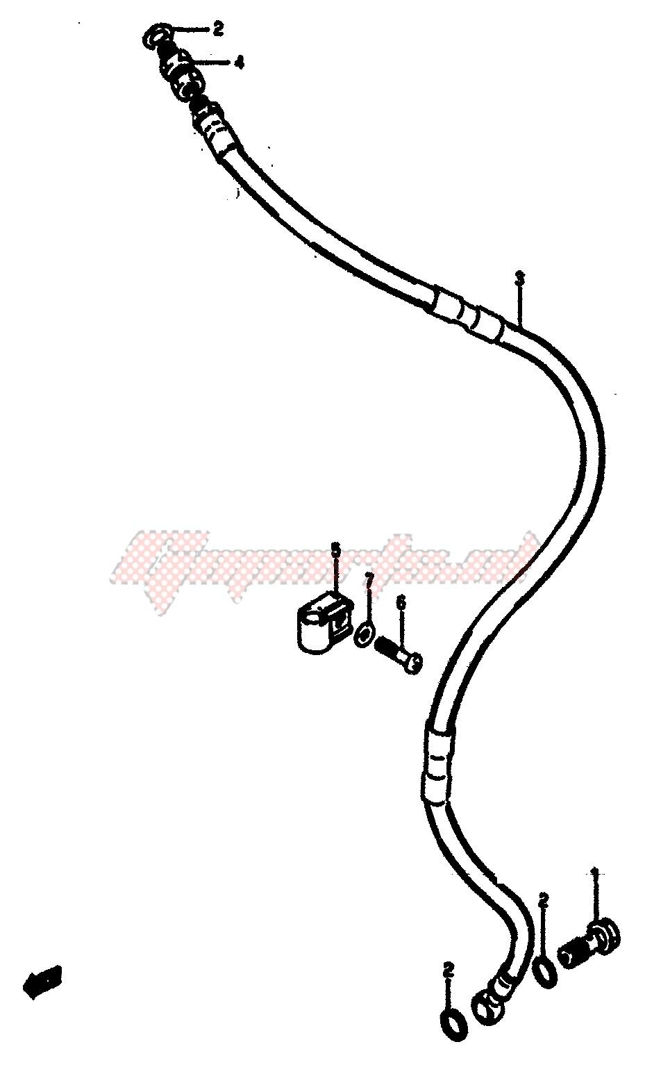 FRONT BRAKE HOSE (MODEL F) image