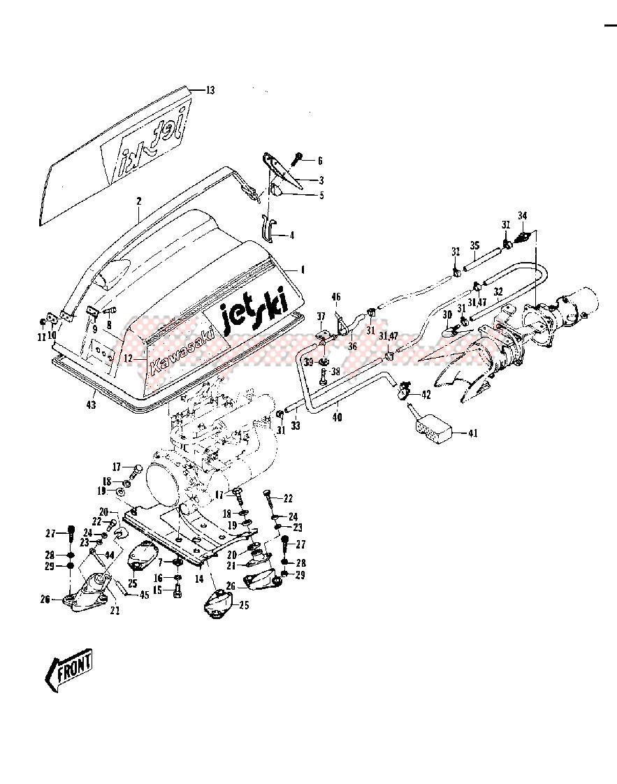 ENGINE HOOD_COOLING & BILGE -- 77-78 A1_A1A_A2- - image