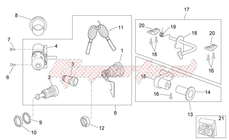 Decal - Lock hardware kit image