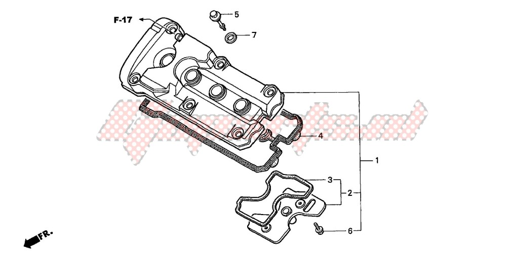 CYLINDER HEAD COVER (CB600F2/F22) image