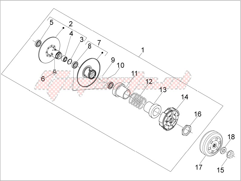 Driven pulley image