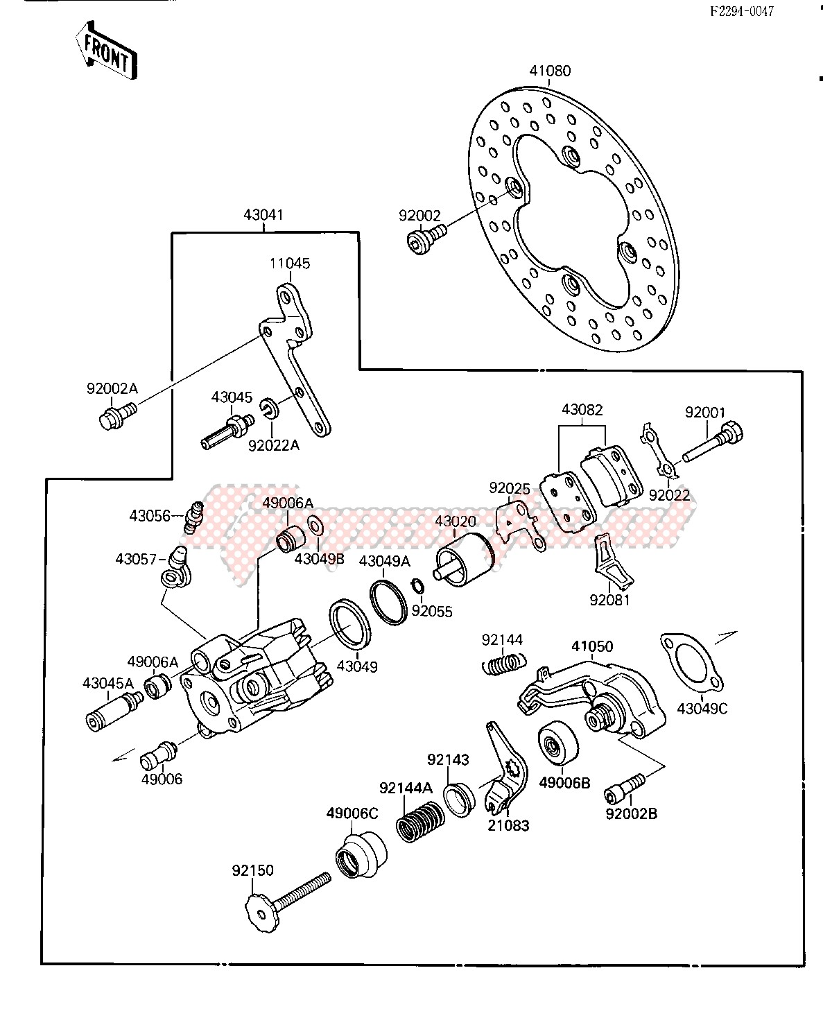 Frame-REAR BRAKE -- KSF250-A2- -