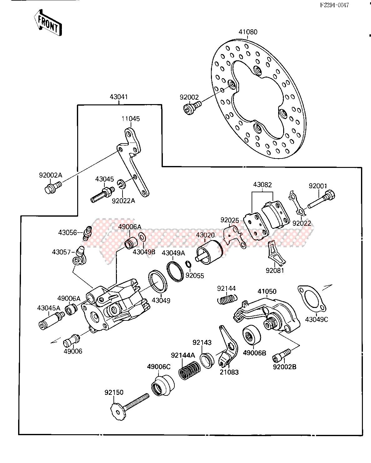 REAR BRAKE -- KSF250-A2- - image