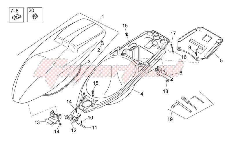 Saddle - Helmet compartment image
