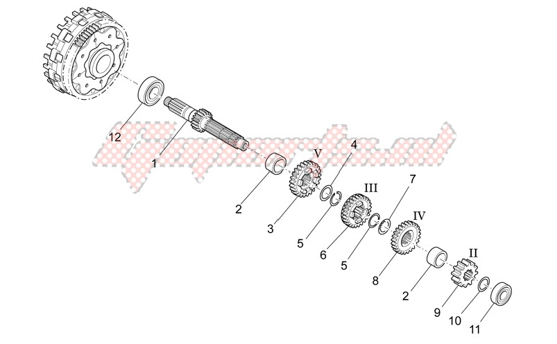 Primary gear shaft image