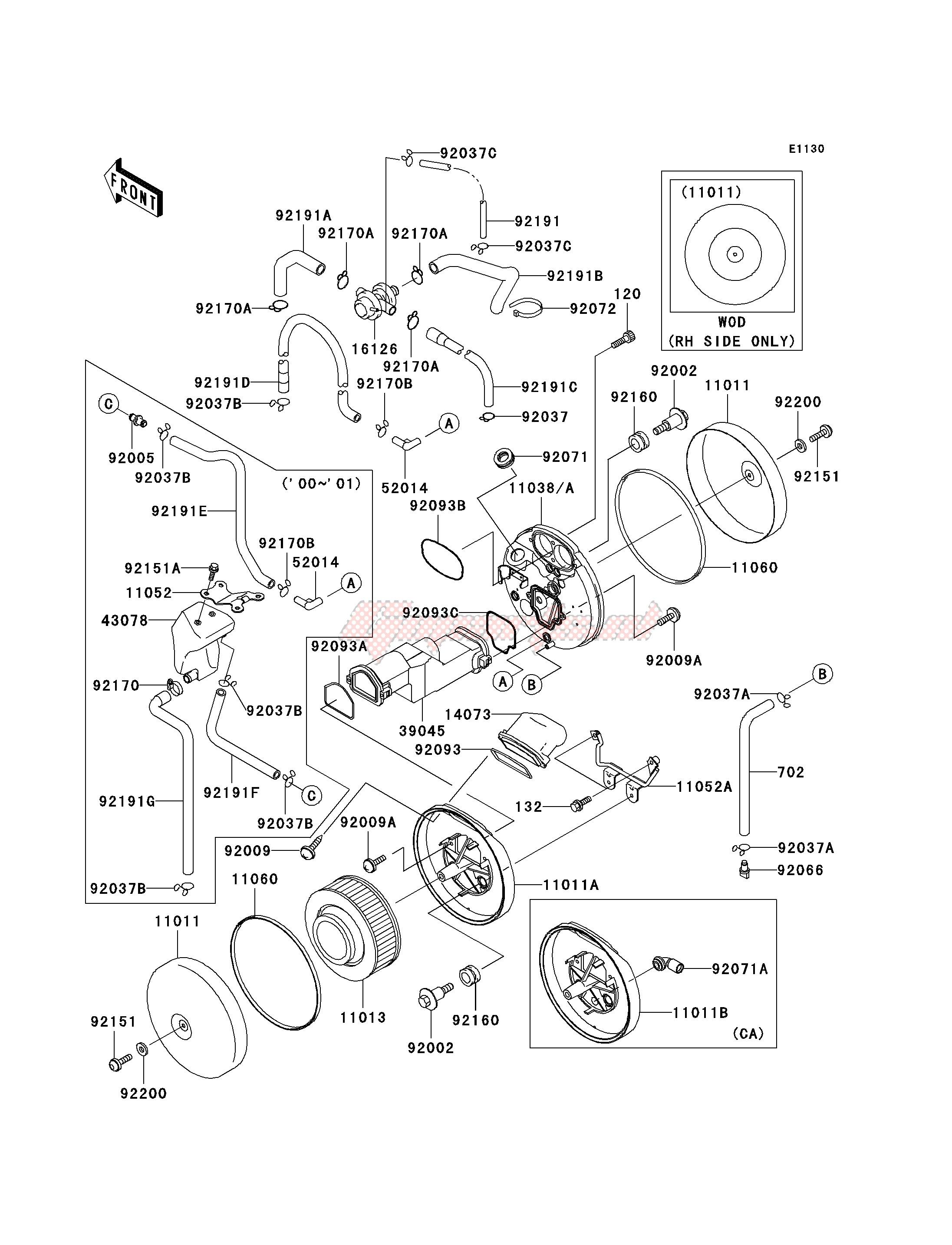 2002 Choke Cable Kawasaki VN 1500 N3 Classic