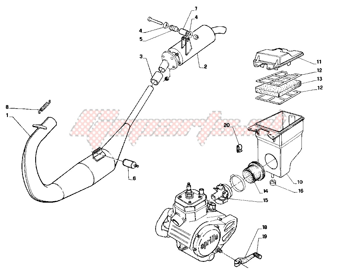 Engine-Exhaust system - airfilter