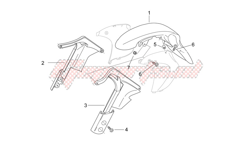 Frame-Front body - Mudguard