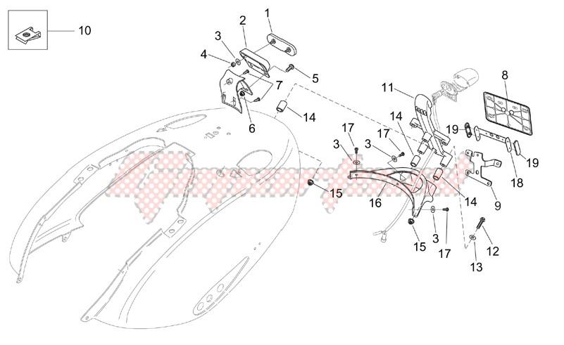 Rear body - Plate holder image