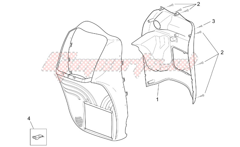 Frame-Front body - Internal shield