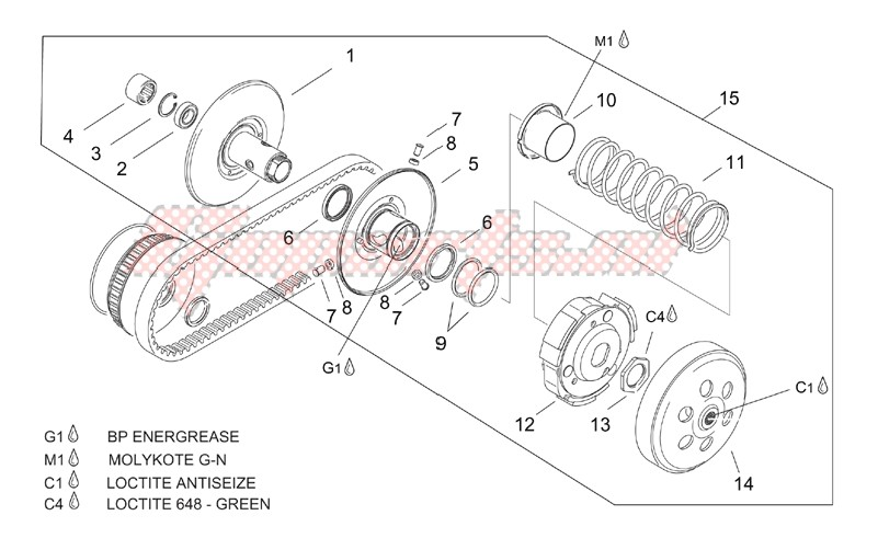 Pulley assy. driven image
