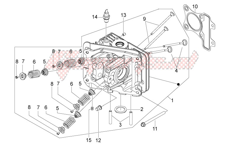 Engine-Cylinder head - valves