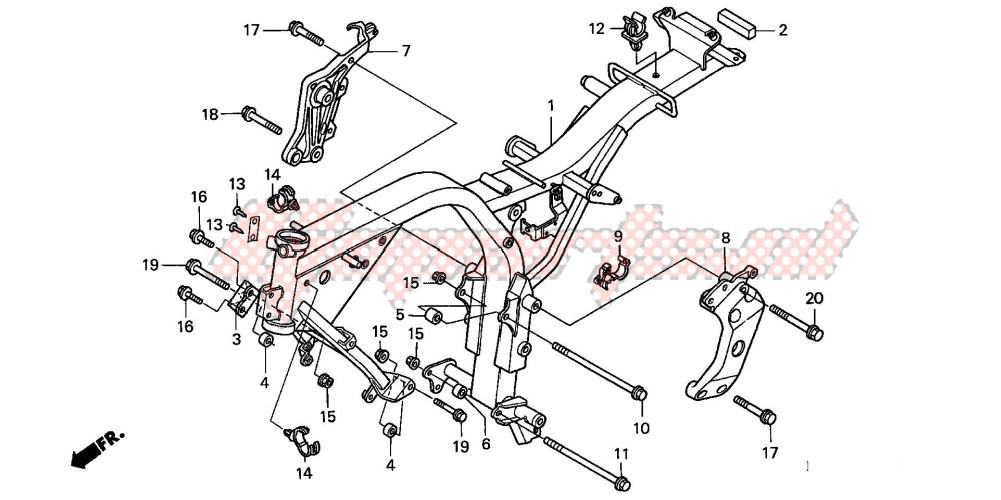 FRAME BODY (CB600F2/F22) blueprint