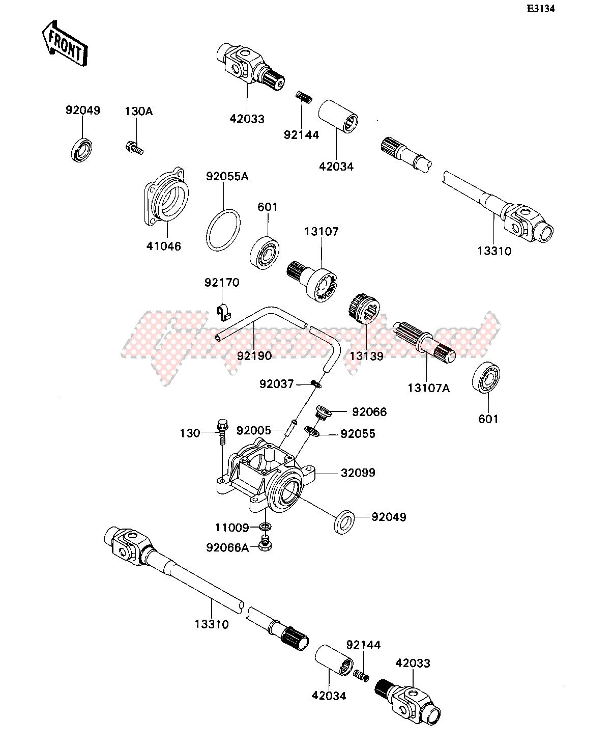 Frame-DRIVE SHAFT-- 2WD_4WD- -