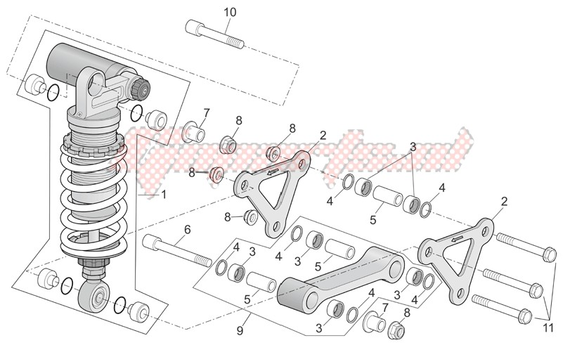 Connecting rod - rear shock abs. image