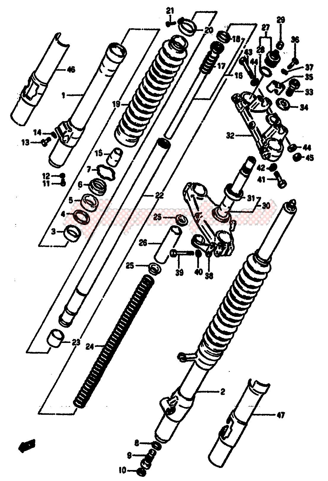 FRONT FORK (MODEL E) image