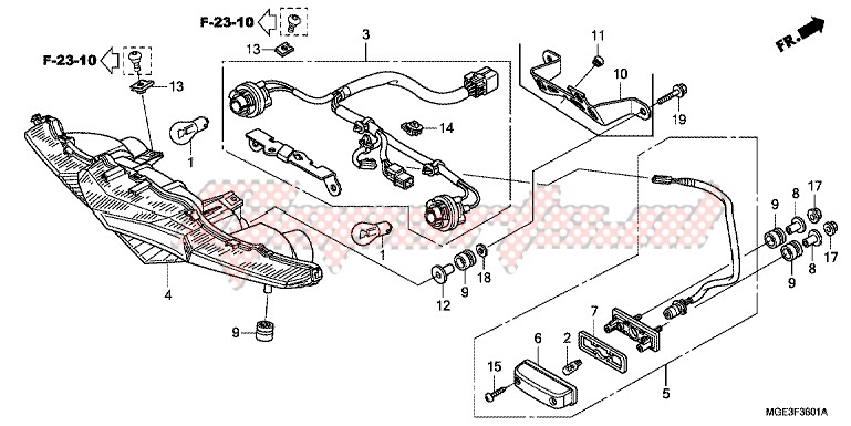 TAILLIGHT (VFR1200FC/FD/FDC/FDD) blueprint