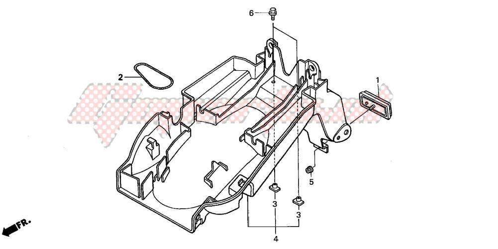REAR FENDER (CB600F2/F22) blueprint