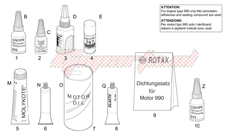 Engine-Sealing and lubricating agents