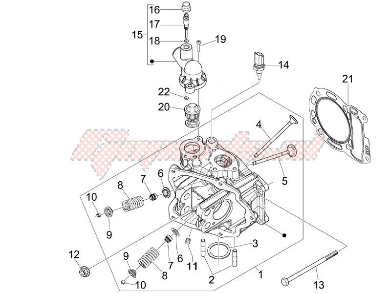 Cilinder head unit - Valve image