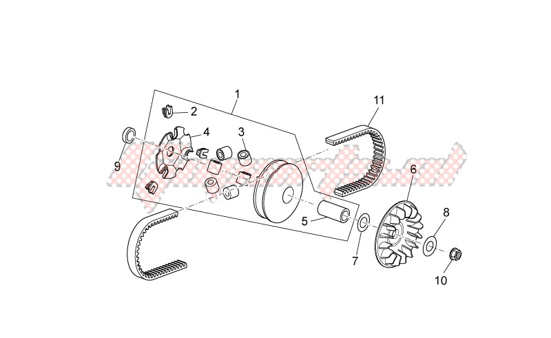 Engine-Variator assembly