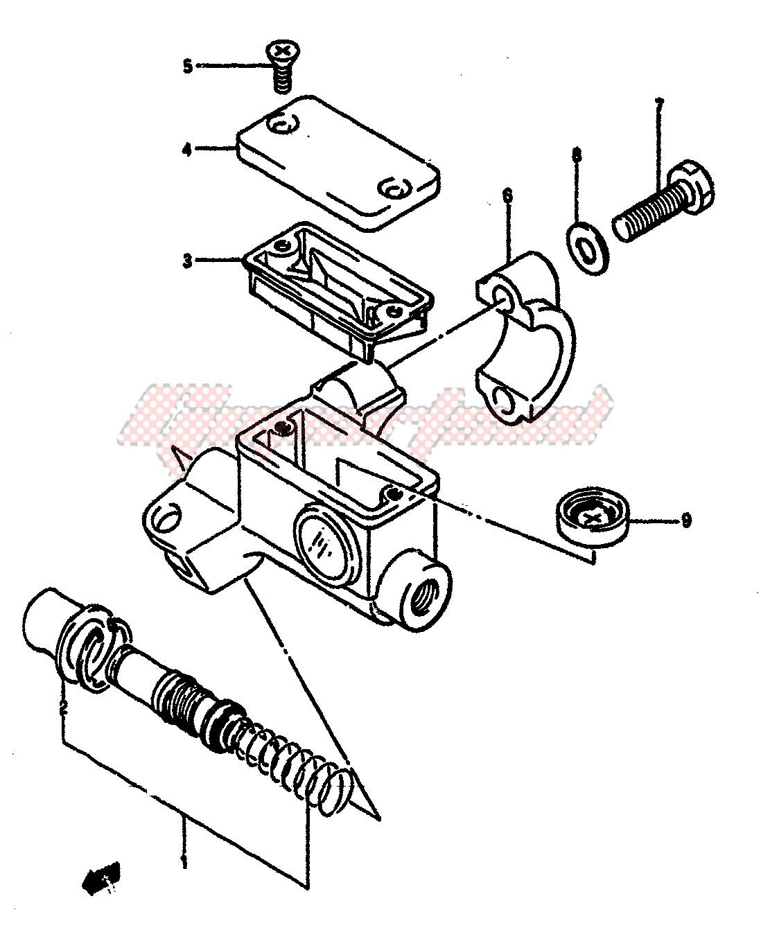 FRONT MASTER CYLINDER (MODEL F) blueprint