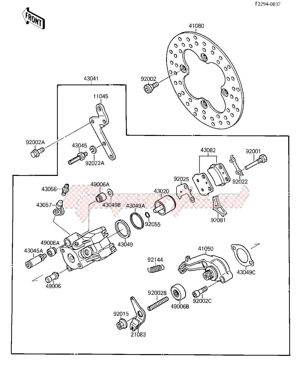 REAR BRAKE -- KSF250-A1- - image