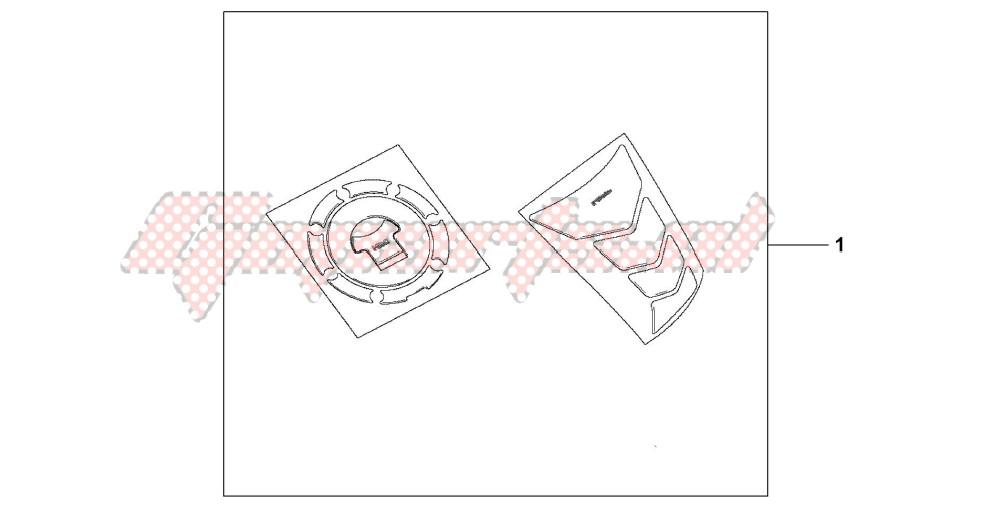 TANKPAD / FUEL LID COVER blueprint