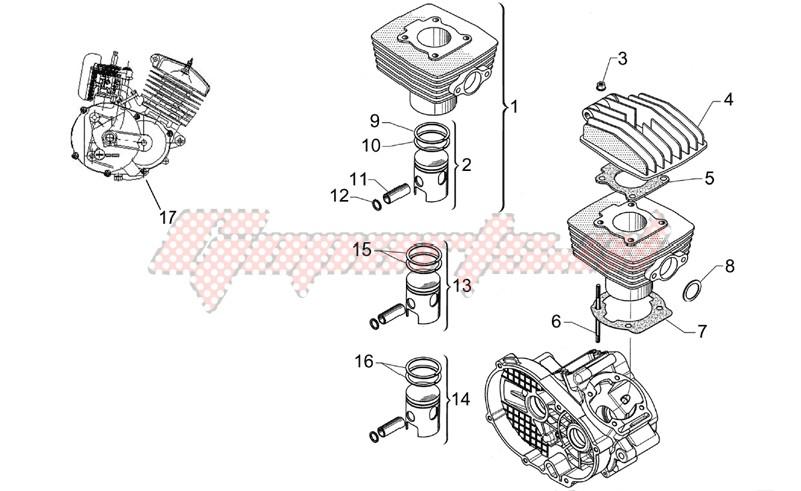 Head - Cylinder - Piston image