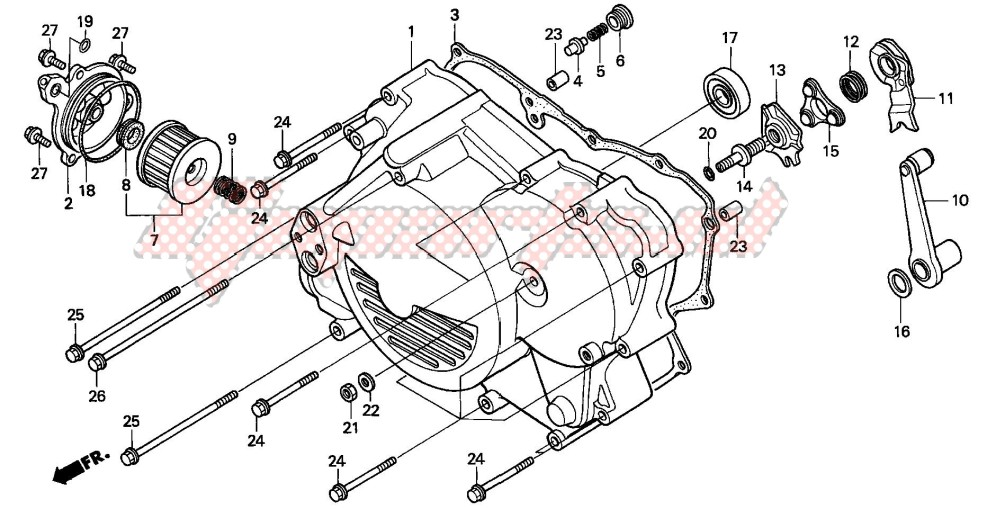 -FRONT CRANKCASE COVER