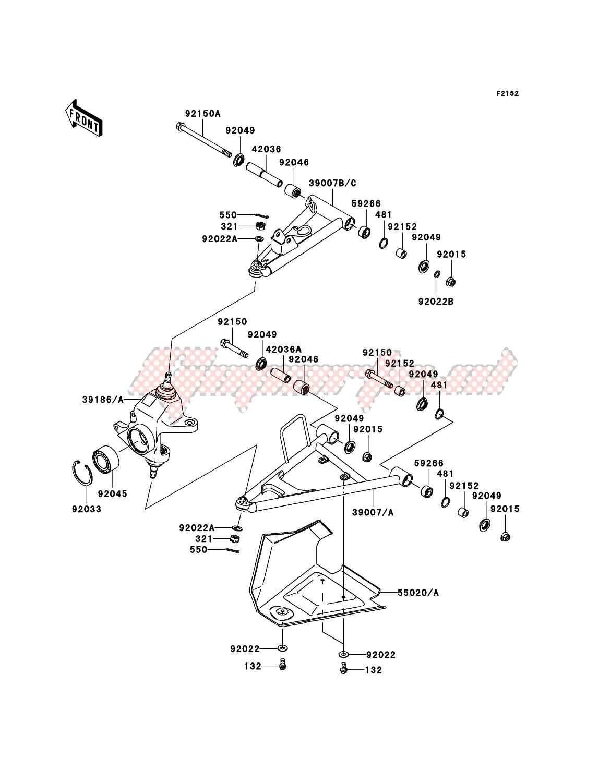 Front Suspension(-JKAVFDA1 6B524414) image